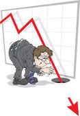 рецессии — Cтоковый вектор
