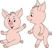 Pink Piglets — Stock Vector
