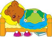 Sleeping bear — Stock Vector