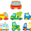 Stock Vector: Cartoon cars