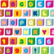 Stock Vector: Funny children's font