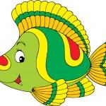 Green tropical fish — Stock Vector #30881713