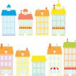 Colorful buildings — Stockvectorbeeld