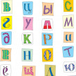 Russian font — Stock Vector