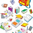 School objects — Stock Vector