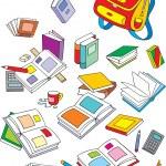 School objects — Stock Vector