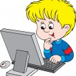 Boy with computer — Stock Vector #30882009