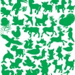 Animal silhouettes — Stock Vector #30882015