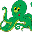 Green octopus — Stock Vector #30882175