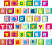 Funny children's font — Stock Vector
