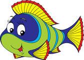 Green tropical fish — Stock Vector
