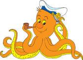 Orange octopus — Stock Vector