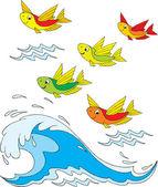 Flying fish — Stock Vector