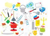 Objetos em casa — Vetorial Stock