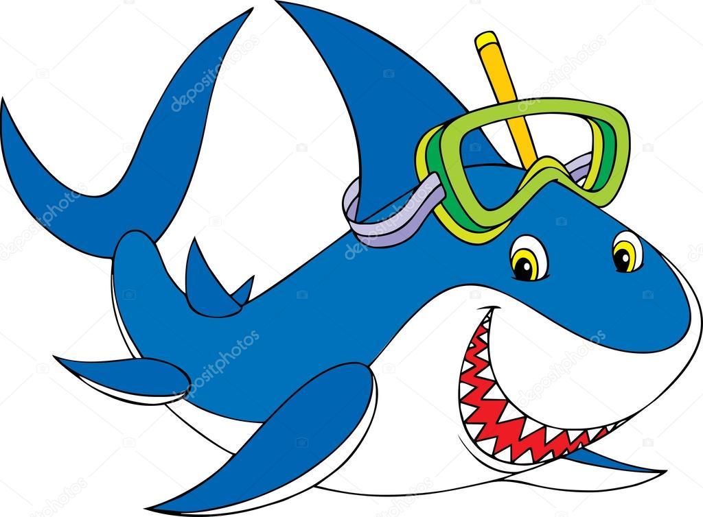 大白鲨– 图库插图