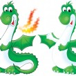 Green fire breathing dragon — Foto de Stock