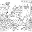 House keeping bird with a messy interior — Foto Stock