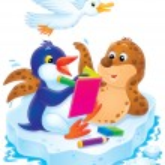 Seal posing for a penguin artist — Stock Photo #31116845
