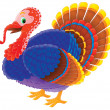 Colorful tom turkey — Stock Photo
