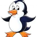 Cute white and black penguin — Stock Photo