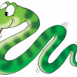 thumbnail of Cute green snake with stripe patterns