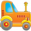 Stock Photo: Orange big rig truck