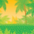 Постер, плакат: Tropical foliage background