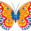 Colorfully patterned butterfly — Stock Photo