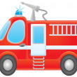 Airbrushed red fire engine — Stock Photo