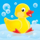 Yellow rubber duck — Stock Photo