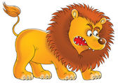 Aggressive young male lion — Stock Photo