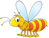 Cartoon wasp — Stock Photo