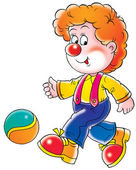 Red Haired Clown — Stock Photo