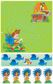Funny task for children — Stock Photo
