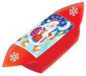 Red foldable santa gift box — Stock Photo