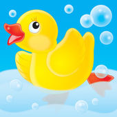 Yellow rubber ducky — Stock Photo