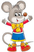 Mouse in bright clothes — Stock Photo