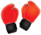 Airbrushed pair of boxing gloves — Stock Photo