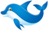 Blue dolphin with brown eyes — Stock Photo