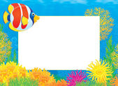 Underwater stationery border of anemones — Stock Photo