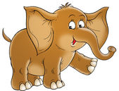 Cute cartoon elephant — Stock Photo