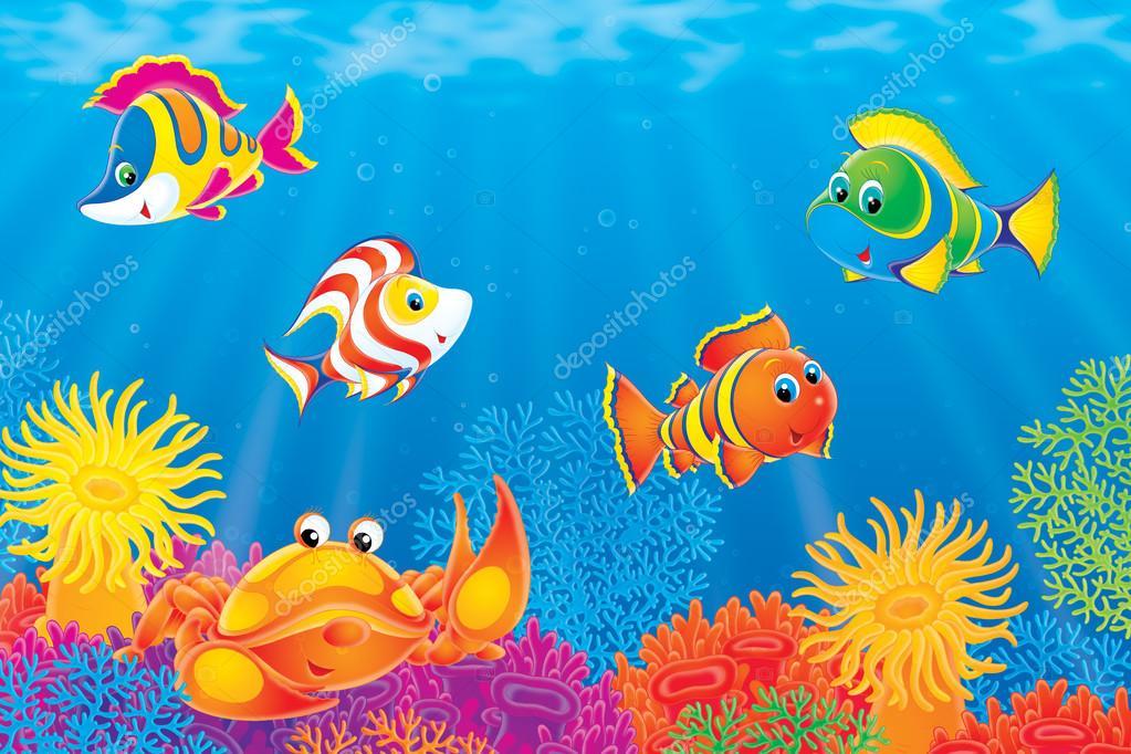 Cart Cart Light... Underwater Fish Scene