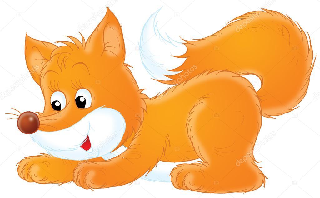 卡通可爱狐狸– 图库图片