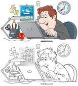 Sales manager — Cтоковый вектор