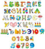 игрушка шрифта — Cтоковый вектор