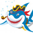 Shark pirate — Foto Stock