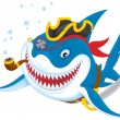 Shark pirate — 图库照片