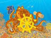 Octopus pirate — Stock Photo