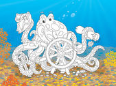Octopus-pirat — Stockfoto