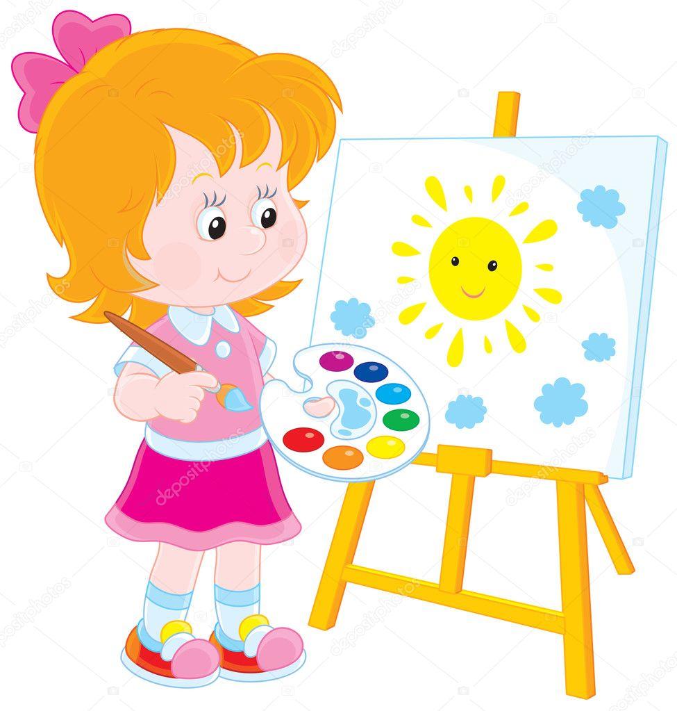 Дети рисованные в векторе